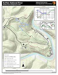 Buffalo Creek Trail Map Hiking In The Lower District Buffalo National River U S