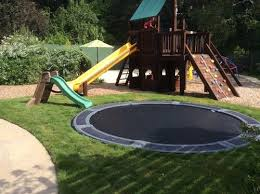 Houzz Backyards 18 Best In Ground Trampolines Images On Pinterest Trampolines