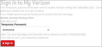 reset the password for the verizon wireless website verizon wireless