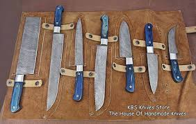 damascus kitchen knives kbs knives damascus kitchen knives set