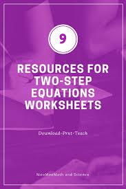solving two step equations worksheets