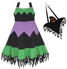 girls dress halloween witch costume ghost bag black green u2013 sunny