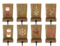 stocking holders mantle stockings reclaimed wood set of 4