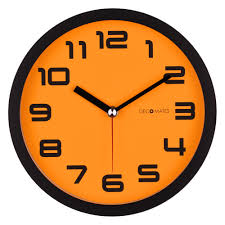 silent wall clocks color block orange pumpkin silent wall clock decomates
