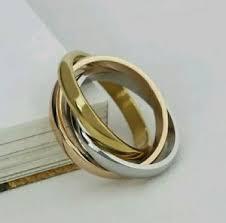 verlobungsring silber oder gold 3er edelstahl ring verlobungsring gold silber tricolor 19 1