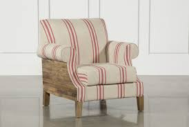Striped Accent Chair Otb Red Linen Striped Accent Chair Living Spaces