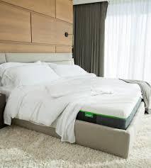 Box Spring Free Bed Frame by Cariloha Bamboo Mattress Comfortable Memory Foam Mattress