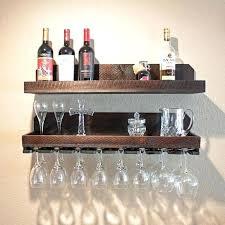 wall wine glass rack ative mount wood racks amazon