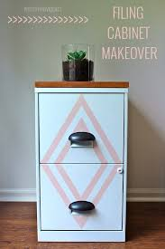 Cute Cabinet Painted Filing Cabinet Makeover
