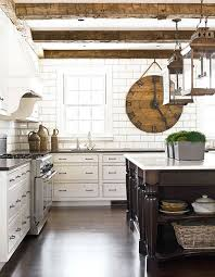 white kitchen cabinets with wood beams a rustic flavor 20 suggestions of how to expose beams
