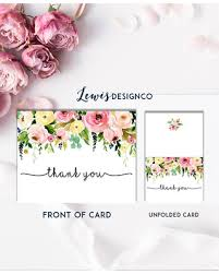 thank you card for baby shower shopping s deal on floral watercolor thank you card