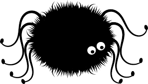 halloween spider clipart black and white cute spider png file png mart