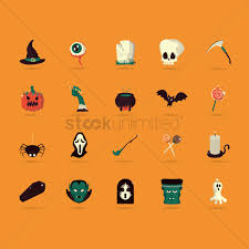 halloween icons set vector image 1482937 stockunlimited