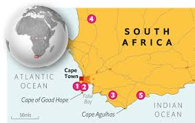 Cape Of Good Hope On World Map by Cape Town 1843