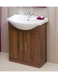 Sink Vanity Units For Bathrooms by Walnut 65cm Vanity Unit U0026 Basin