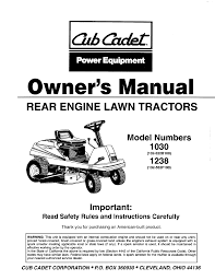 cub cadet lawn mower 1238 user guide manualsonline com