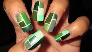 Color Green Green Color Block For Depression Awareness Diy Nail Art Tutorial