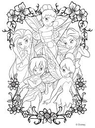 coloring trendy tinkerbell color coloring pages