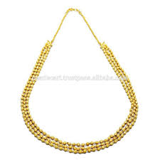 pearls cart exclusive 3 line handmade gold balls necklace buy