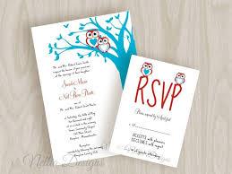 unique wedding invites cool wedding invitations unique blue tree aqua with uniuqe owl