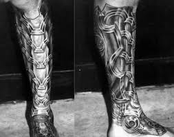 80 shin tattoos for masculine lower leg design ideas