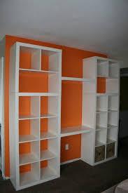 wall units shelves and desk unit bookshelf with desk built in ikea ikea hack bookshelf