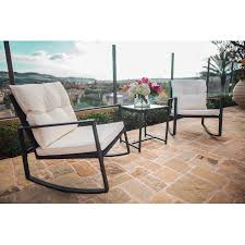 Wicker Bistro Chairs Suncrown Outdoor 3 Rocking Wicker Bistro Set Black Wicker