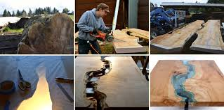 making a live edge table greg klassen s beautiful river collection puts the live edge on the