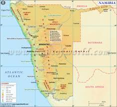 Blank Map Of South Africa Provinces by Namibia Map Map Of Namibia