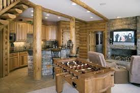 Media Game Room - 7 tips for planning and building your log home basement