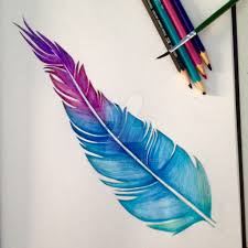 watercolour feather by miilo18 on deviantart