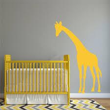 stickers pour chambre bébé girafe silhouette wall sticker pour chambre bébé doux décoratif