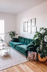 green velvet sofa u0026 plants nesting pinterest green velvet