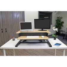 luxor 32 pro charcoal standing desk converter lvlup pro32 wo the