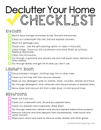 house checklist declutter your home printable checklist ask anna