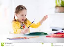 little painting and writing stock photo image 66288137