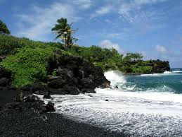black sand beaches world super travel