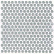 eden modern gray penny round polished rimmed ceramic tile