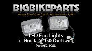 goldwing driving lights reviews led driving fog light kit for gl1500 youtube