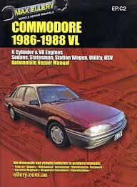 holden commodore vl 1986 88 workshop repair manual max ellery