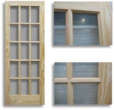 15 light french door pine interior french door 15 lite 28 w home surplus