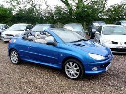 blue peugeot for sale used peugeot 206 2006 petrol 1 6 allure 2dr ac convertible blue