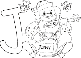 letter j is for jam coloring page new coloring pages glum me