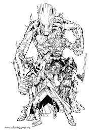 how about to print and color the team of heroes known as guardians