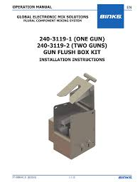 240 3119 1 one gun 240 3119 2 two guns gun flush box kit