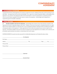 top 4 formats of confidentiality agreement templates word
