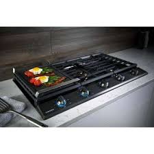 Gas On Glass Cooktop 36 Lp Convertible Gas Cooktops Cooktops The Home Depot