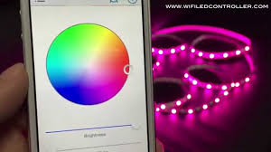 led strip lights wifi controller wifi led controller rgbw led strip app control instruction youtube