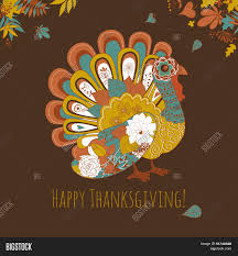 thanksgiving turkey card happy thanksgiving beautiful turkey card stock vector u0026 stock