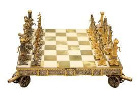 waterloo napoleonic chess set with board